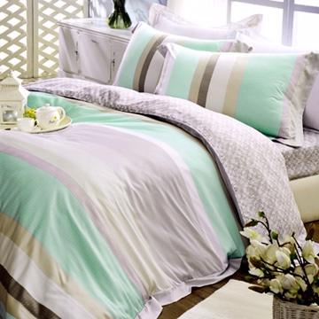 義大利La Belle《清境樂活》雙人天絲八件式兩用被床罩組