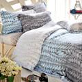 義大利La Belle《葉光絮影》加大天絲八件式兩用被床罩組