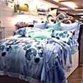 義大利La Belle《墨湘綠影》加大天絲八件式兩用被床罩組