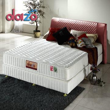 Dazo美式床組[720多支點二線備長碳獨立筒+布爾瓦床台]-單人尺寸