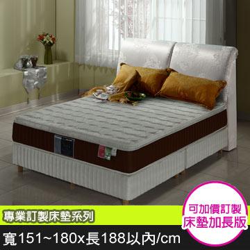Goldjoyful【三線尊邑】蠶絲/乳膠3D透氣健康護背床墊(雙面布)-(寬151~180x長188cm以內)