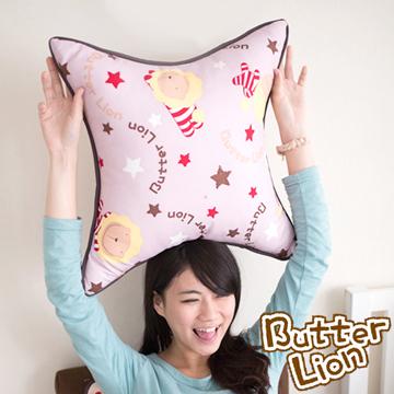 【奶油獅】正版授權搖滾星星方型抱枕-淡紫(一入)