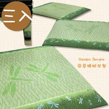 【范登伯格】蜻蜓緹花藺草坐墊-三入-50x50cm