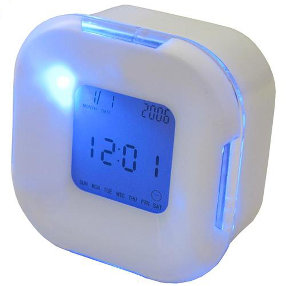 月陽超炫多功能萬年曆溫度計計時器四面鐘鬧鐘(UI2606)