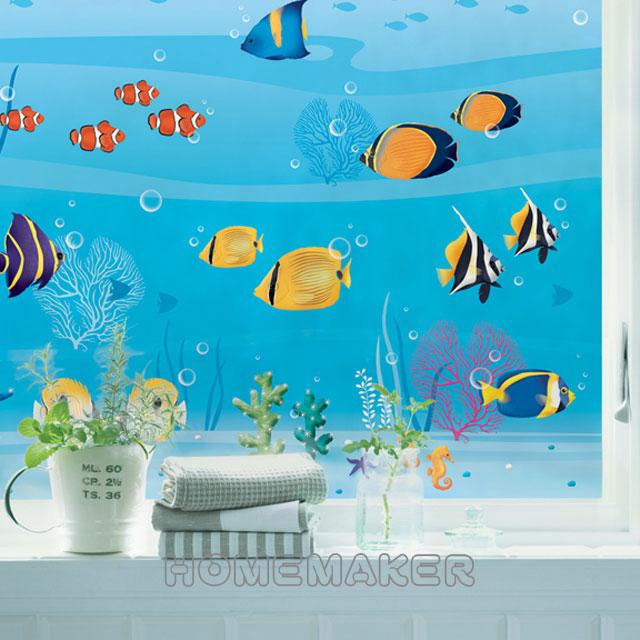 Decoin彩繪窗貼-Fish(GS08A)