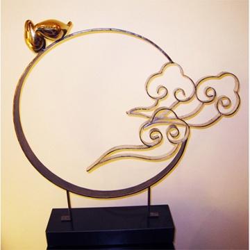 *創意時尚歐風*觀雲鳥不鏽鋼/黃銅金屬雕塑