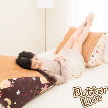 【奶油獅】正版授權-台灣製造~搖滾星星紙纖舒涼三角靠墊-三色任選(二入)