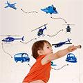 窩自在 DIY無痕創意壁貼-直升機車車(TM-0361)