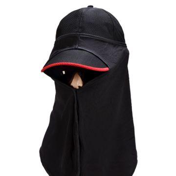 《UHO》偏光太陽眼鏡野外遮陽帽-黑色
