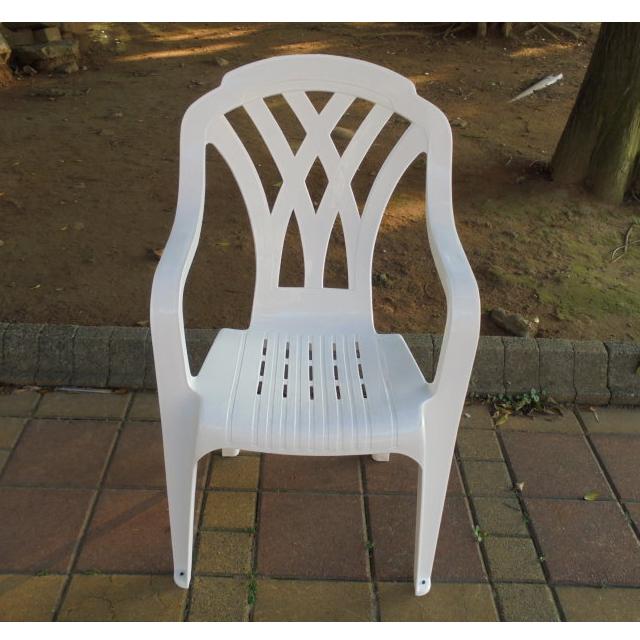 Brother兄弟牌《白色塑膠椅~抗UV紫外線~高背設計》4入裝