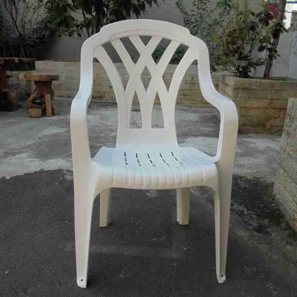 Brother兄弟牌《白色塑膠椅~抗UV紫外線~高背設計》2入裝