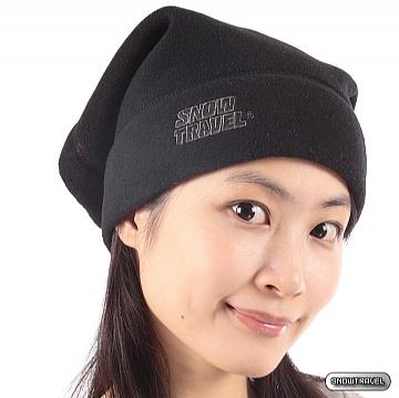 《SNOW TRAVEL》POLARTEC 保暖圍頸兩用帽(黑色)