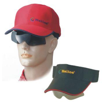 UHO【太陽眼鏡休閒帽(紅色)】+【遮陽帽(黑色)】組