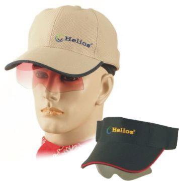 UHO【太陽眼鏡休閒帽(卡其色)】+【遮陽帽(黑色)】組