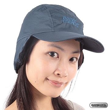 《SNOW TRAVEL》格紋防風遮耳棒球帽(藍色)