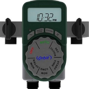 美國ORBIT四區段自動定時灑水器(一進四出含兩個閥門DIY五金零件)