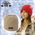 SNOW TRAVEL 台灣製造 3M Thinsulate高級素面麻花保暖羊毛帽_AR-18D 卡其
