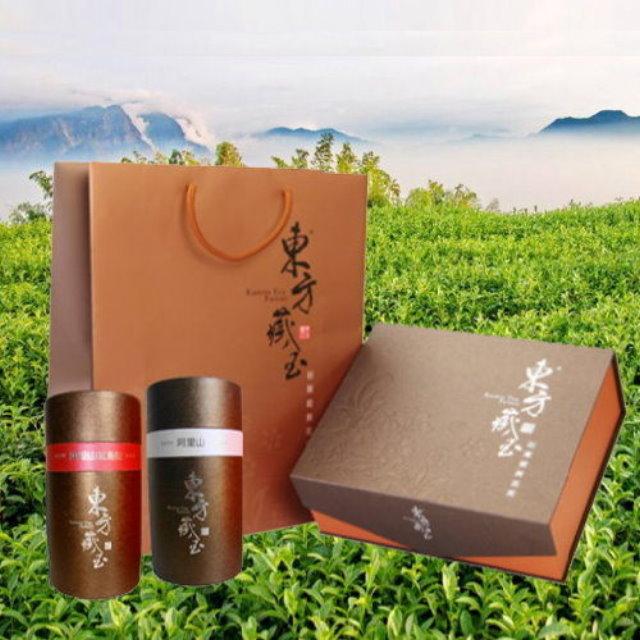 【東方藏玉】茶葉禮盒(阿里山紅烏龍+阿里山高山茶)