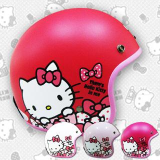 Hello Kitty│點點蝴蝶結│凱蒂貓│復古騎士安全帽│三麗鷗正版授權