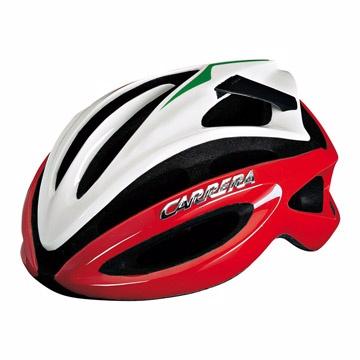 義大利CARRERA通風自行車頭盔-白紅
