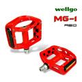 《WELLGO MG-1》鎂合金專業自行車培林腳踏(紅)