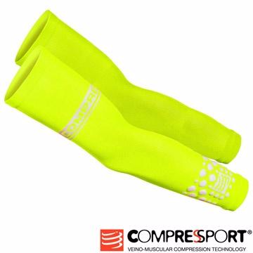 瑞士Compressport運動機能壓縮-Fluo袖套(螢光黃/一雙)