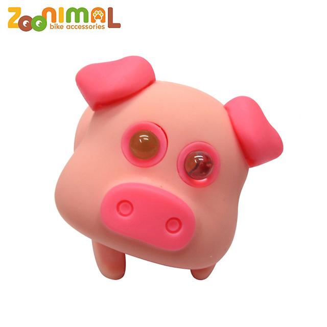 【ZOONIMAL 】 可愛動物LED單車用前燈 粉紅豬
