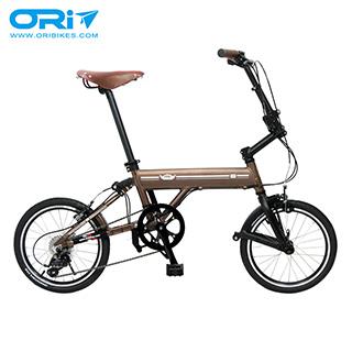 ORI C8 Classic 16吋 8速鋁合金折疊單車(不含後貨架)_陽極噴沙咖啡