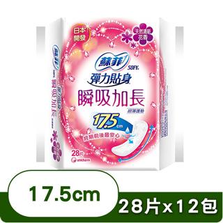 蘇菲 瞬吸加長超薄護墊天然清新花香17.5cm(28片x2包x6組)