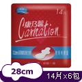 康乃馨-超薄蝶型衛生棉夜用特長28cm (14片x3包)x2組