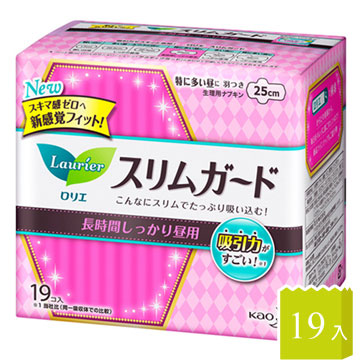 日本KAO速吸超薄碟翼衛生棉25cm-19枚