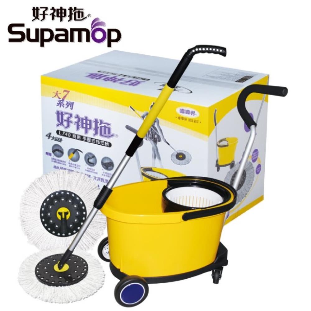 好神拖-L740 商業用拖把組(1拖1桶2布+1車)