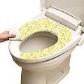 日本LEC水洗式馬桶座墊消臭貼【花卉粉黃】