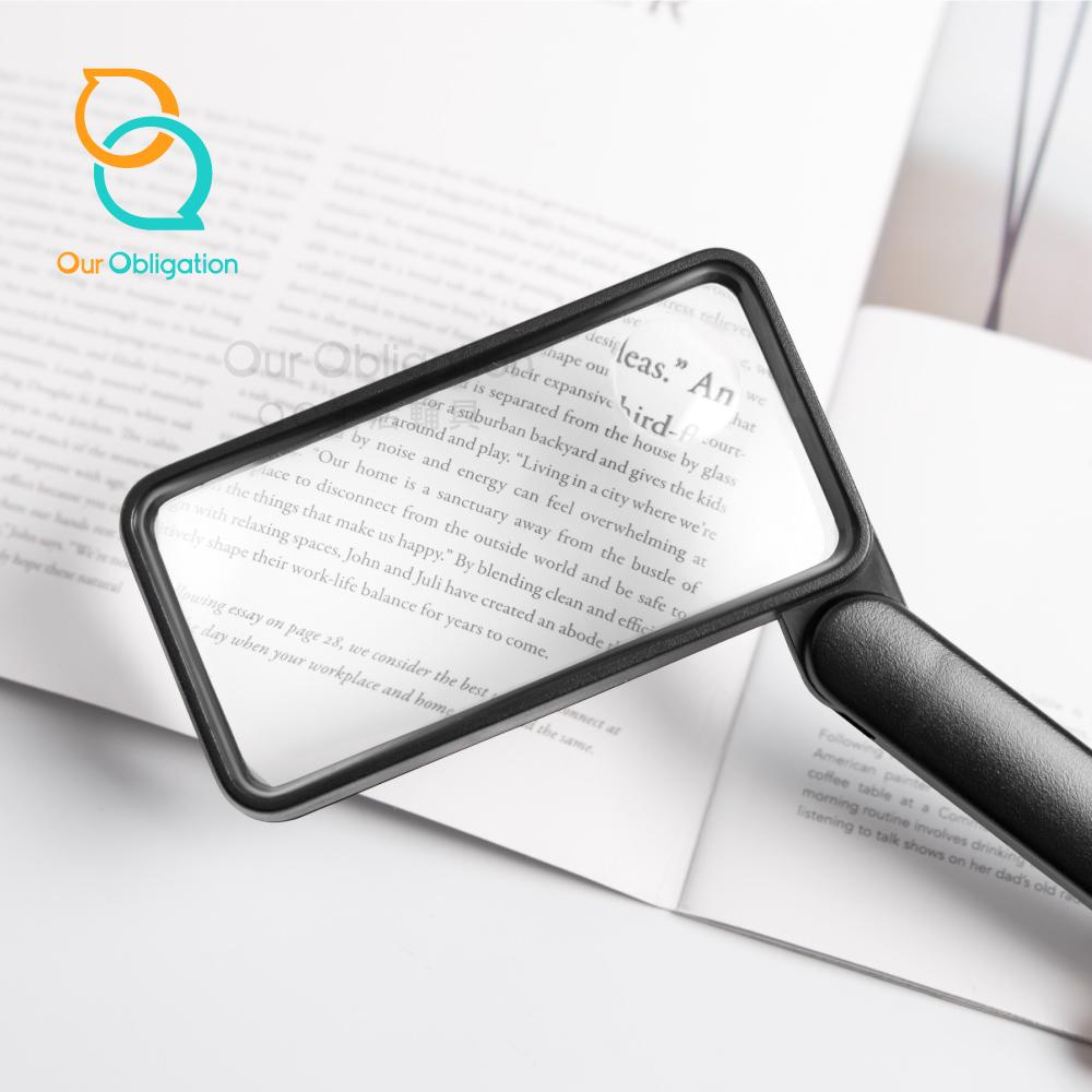 【OO生活輔具】可折式四角放大鏡