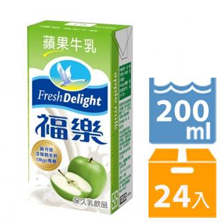 福樂 蘋果口味保久乳200毫升x24入