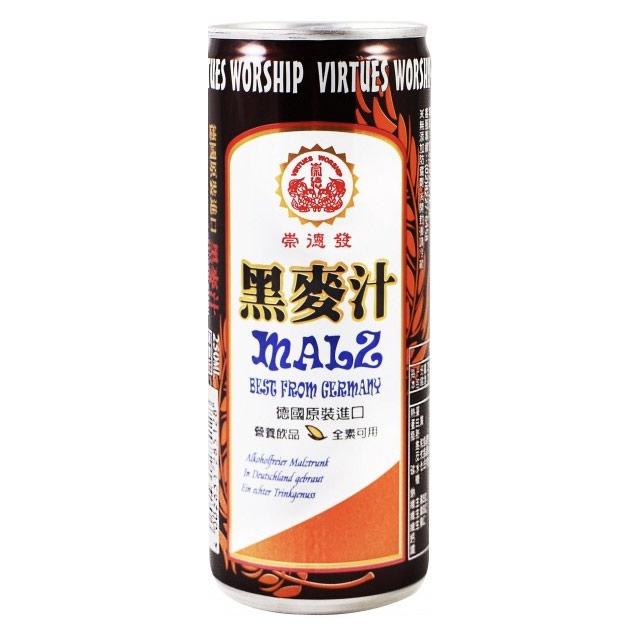 崇德發德國原裝進口 黑麥汁-易開罐 250ml(24入)