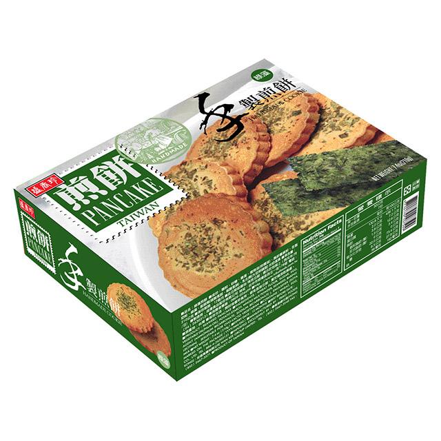 盛香珍 手製煎餅(綠藻口味) 210g(盒)