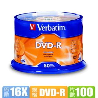 Verbatim 威寶藍鳳凰 16X DVD-R 燒錄片 (100片)