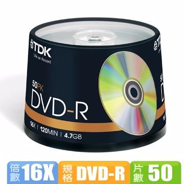 TDK GOLD 16X DVD-R 4.7GB 50片