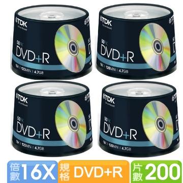 TDK GOLD 16X DVD+R 4.7GB 200片