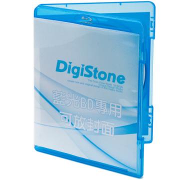DigiStone 藍光DVD Logo 燙銀單片精裝軟盒 (25片)