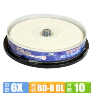 RiStone 日本版  6X BD-R DL 可印片 (10片)