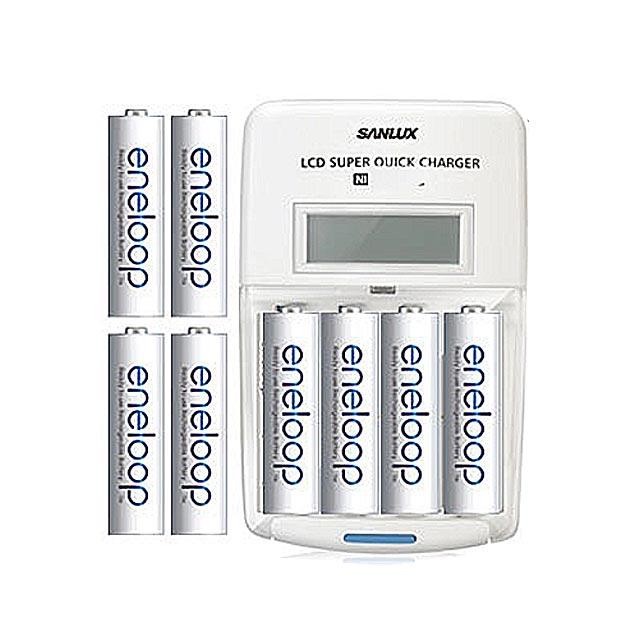 Panasonic國際牌ENELOOP低自放充電電池組(液晶衝電器+4號4入+3號4入)