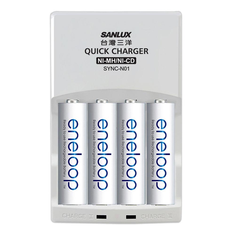 日本Panasonic國際牌eneloop低自放電充電電池組(搭配智慧型充電器+3號4入)
