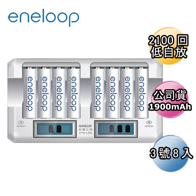 Panasonic國際牌ENELOOP低自放充電電池組(8入液晶充電器+3號8入)