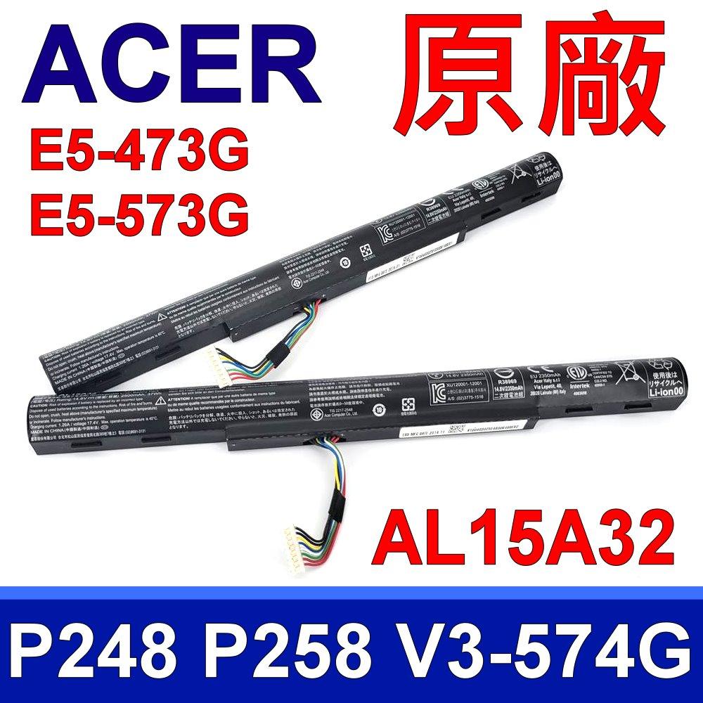 ACER 宏碁 全新原裝 AL15A32 電池 14.8V 37WH AL15A32,  E5-422G, E5-432G, E5-452G, E5-472G E5-474G, E5-491G, E5-52...