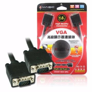 VGA 高級顯示器延長線  15pin公 對 15pin公 1.8M