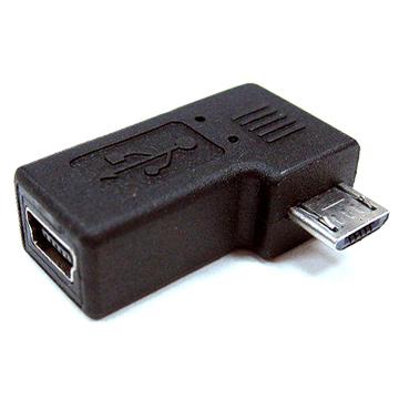 fujiei mini USB 5pin母轉micro B公 90度轉接頭