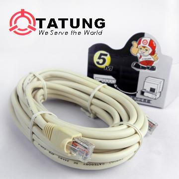 TATUNGISDN網路插頭線(5M/8蕊)TBAV-C383