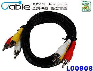 Cable AV端子線3RCA對3RCA 2.5M(RCA3PP2.5)